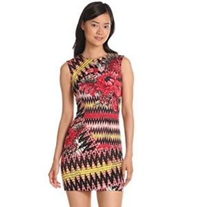 French Connection Women's Zig Zag Floral Dress